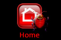 Home page house icon.